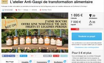 Finance participative : Boc'oh, L'atelier Anti-Gaspi de transformation alimentaire